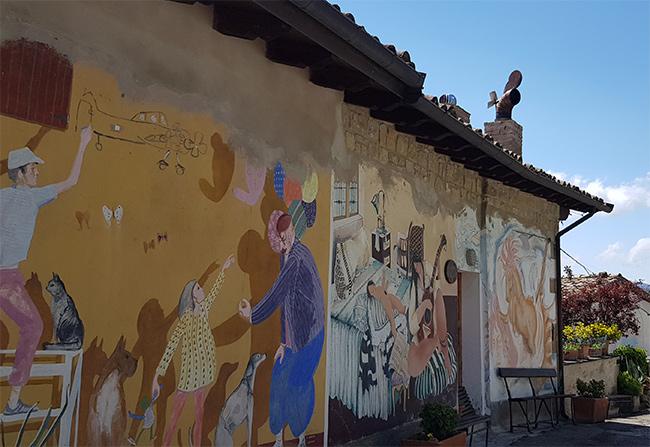 Lavacchio borgo di murales